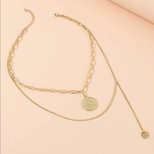 Lariat Double Tier Necklace